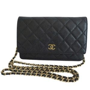 CHANEL Wallet on Chain Classic with Gold Hardware